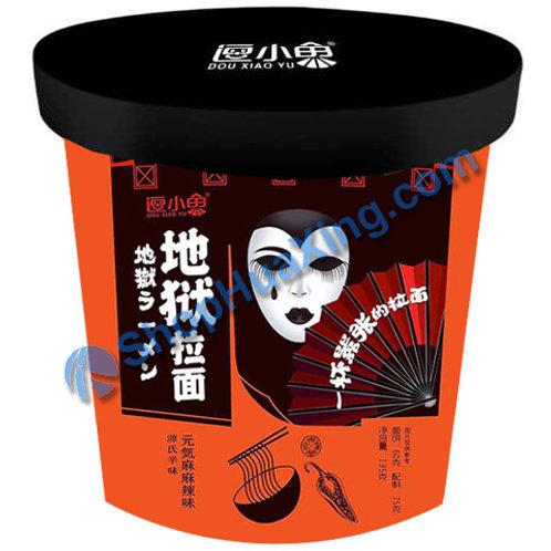 03 Dou Xiao Yu Instant Noodle Spicy 逗小鱼地狱拉面 元气麻麻辣味 135g