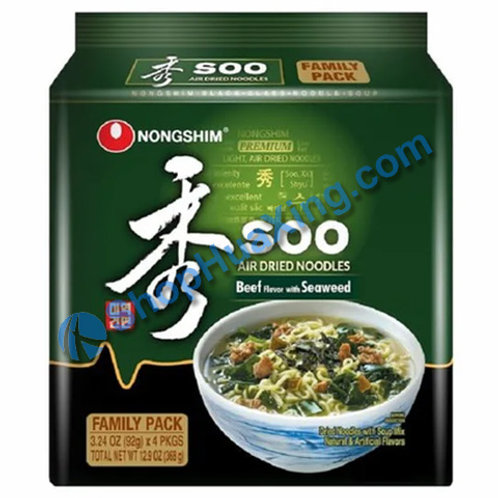 03 NongShim Soo Ramen Beef Flv With Seaweed 农心 拉面 牛肉海带味 4包 X92g