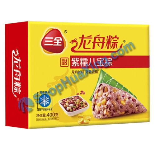 05 Black Glutinous Mixed Rice Dumpling 三全龙舟粽 紫糯八宝粽 400g
