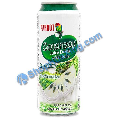 04 Parrot Soursop Juice Drink w. Pulp 鹦鹉牌 释迦果汁 番荔枝水 485ml