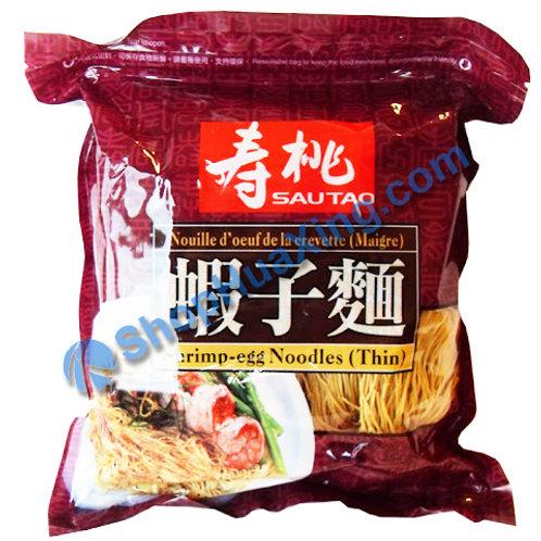 03 SauTao Shrimp Egg Noodle (thin) 寿桃牌 虾子面 454g