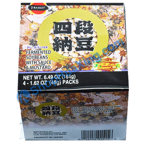 05 J-Basket Fermented Soybeans w. Sauce & Mustard 四段纳豆 6.49oz