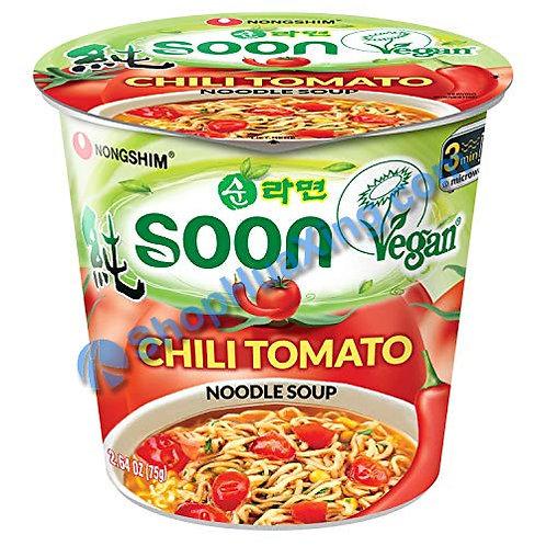 03 NongShim Chili Tomato Flv Noodle Soup 农心 辣番茄味汤面 杯面 75g