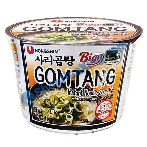 03 NongShim Gomtang Noodle Soup w. Creamy Beef Bone Broth 农心 牛骨汤面 碗装 114g