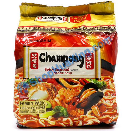 03 NongShim Spicy Seafood Flv Noodle Soup 农心 韩式海鲜汤 4包 X130g