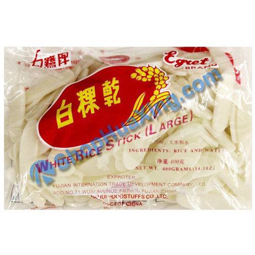 03 White Rice Stick Large 白鹭牌 白粿干 400g