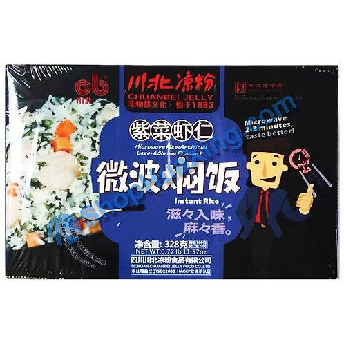 03 Microwave Instant Rice Artificial Laver Shrimp Flv. 川北凉粉微波焖饭 紫菜虾仁 328g