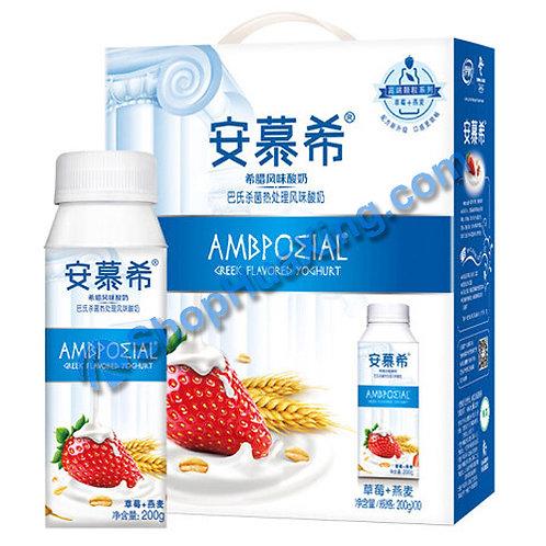 05 AMX Yogurt Drink Strawberry & Oat Flv. 安慕希酸奶 草莓燕麦味 200g x 10 (1箱)