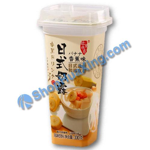 04 Instant Banana Flv Milk Drink 日式奶露 香蕉味 330g
