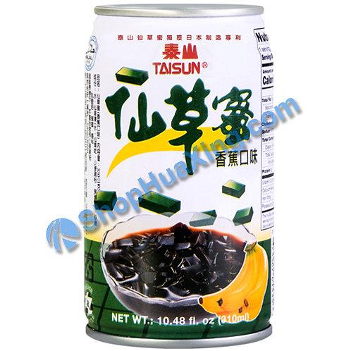 04 Taisun Grass Jelly Drink Banana Flv. 泰山仙草蜜 香蕉味 310ml