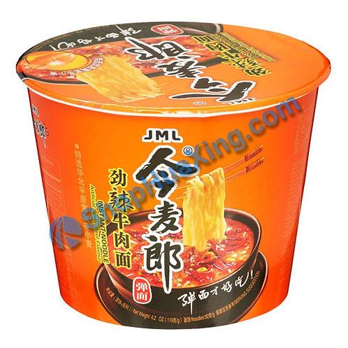 03 JML Spicy Beef Flv Noodle 今麦郎 劲辣牛肉面 碗装 119g