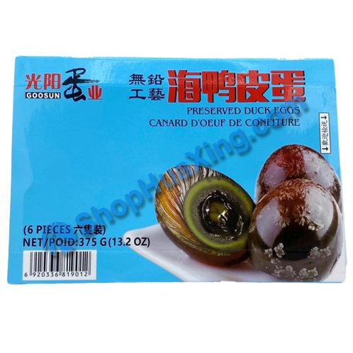 01 Preserved Duck Eggs 6pc 光阳蛋业 海鸭皮蛋 375g
