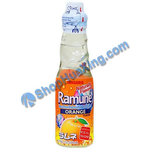 04 Sangaria Orange Flavor Ramune 弹珠汽水 香橙味 200ml