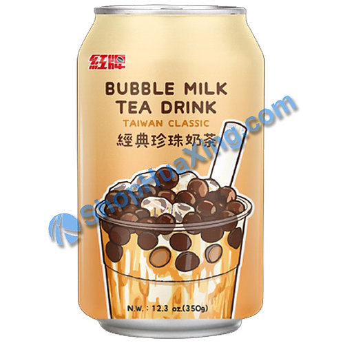 04 Bubble Milk Tea Drink TaiWan Classic 红牌 经典珍珠奶茶 350g