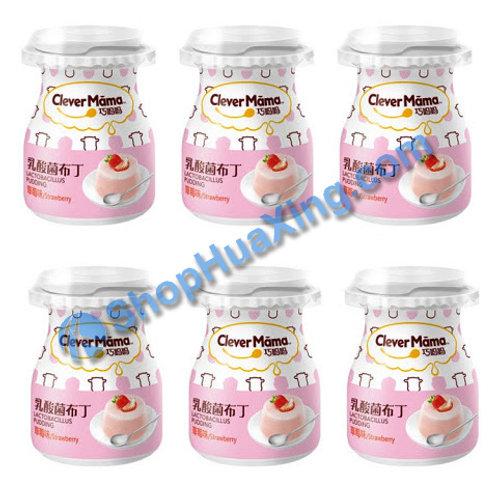 04 Yogurt Pudding Strawberry Flv 巧妈妈 乳酸菌布丁 草莓味 6x85g