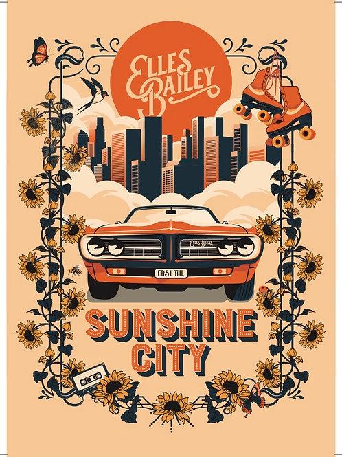 Sunshine City Metal Poster