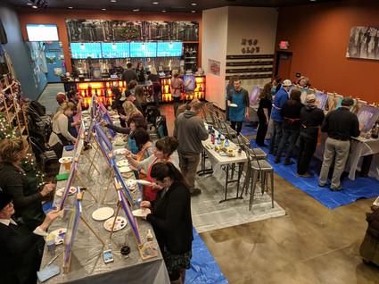 A bar turned into an art studio!