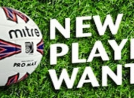Players wanted for the upcoming 2020/21 season.