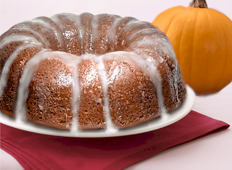PUMPKIN ORANGE CAKE WITH A GINGER-ORANGE GLAZE