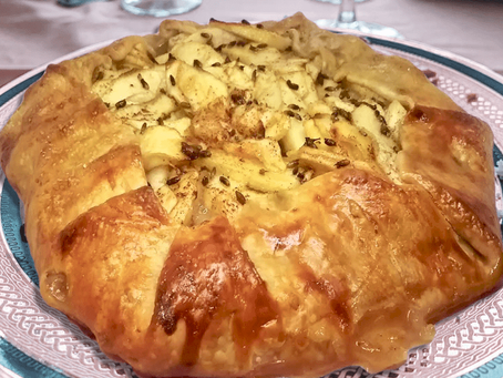 APPLE GALETTE WITH A HONEY-LAVENDER GLAZE