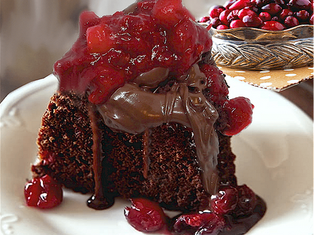 DARK CHOCOLATE & CRANBERRY BUNDT CAKE