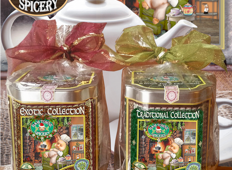 Holiday Tea Time Seasoning Greetings Collection Tins