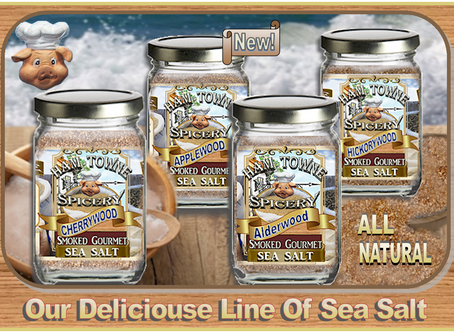 100% Natural Evaporated Sea Salts With Smokey Mouth Watering Flavors!