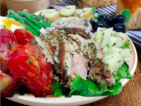 NICOISE SALAD WITH HERB GRILLED TUNA