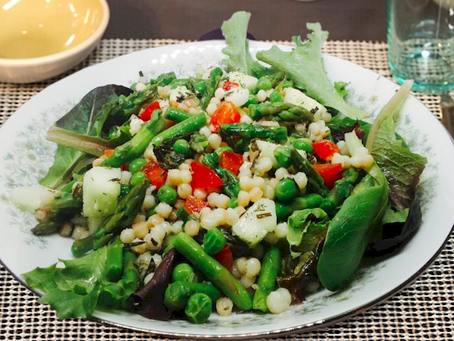 Israeli Couscous Springtime Salad