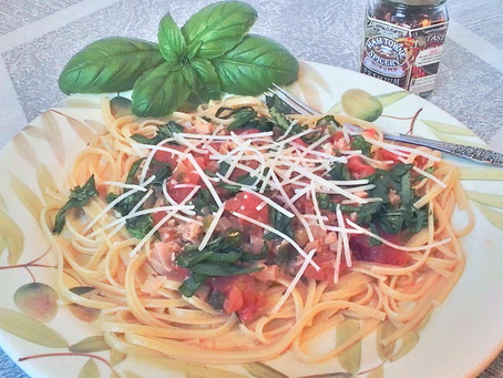 Linguine and Clam Sauce With Fresh Basil