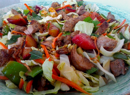 Chinese Five Spice Pork and Plum Salad