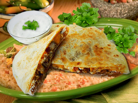 Quesadillas With Queso Blanco Sauce