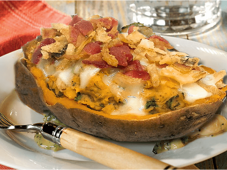 SPINACH STUFFED SWEET POTATO