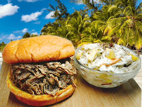CARIBBEAN PULLED PORK SANDWICH
