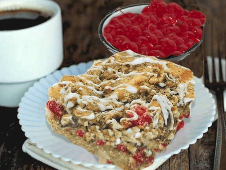 APPLE-CHERRY STREUSEL CAKE
