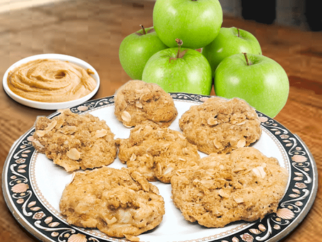 APPLE-PEANUT BUTTER OAT COOKIES