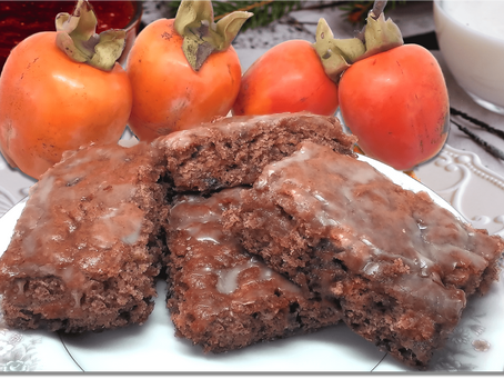 GLAZED PERSIMMON BARS