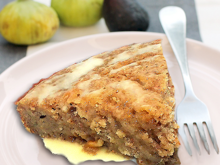 CIDER GLAZED APPLE-FIG SPICE CAKE