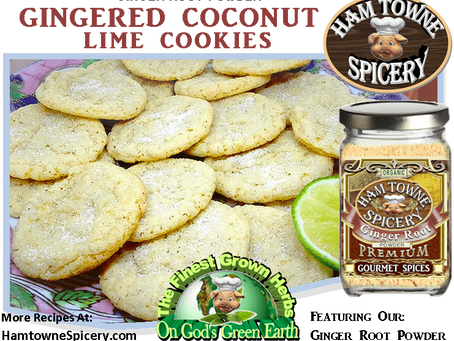 GINGERED COCONUT-LIME COOKIES