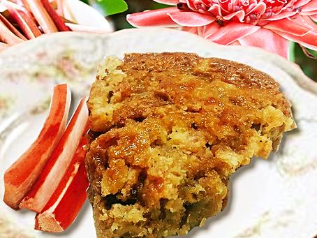 Fresh Rhubarb Sticky Cake