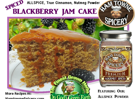 SPICED BLACKBERRY JAM CAKE