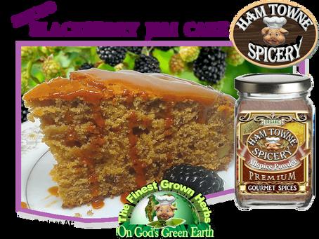 SPICED BLACKBERRY JAM CAKE
