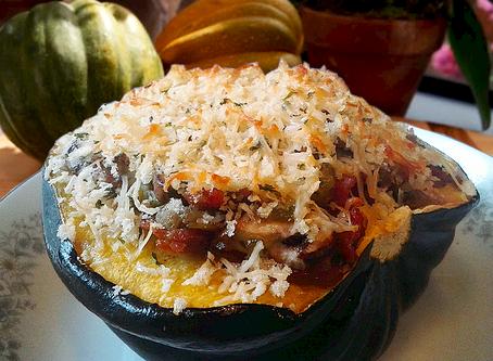 Cheesy Herbed Stuffed Acorn Squash