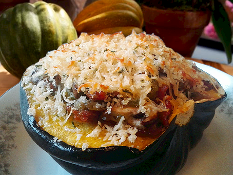 Cheesy Herbed Stuffed Acorn Squash
