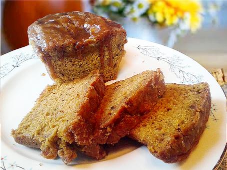 Glazed Spiced Pumpkin Bread