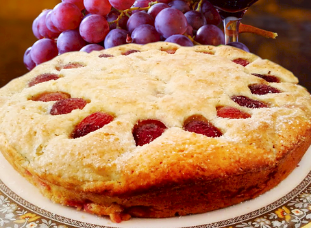 Red Grape Breakfast Cake