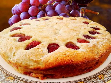 Red Grape Breakfast Cake