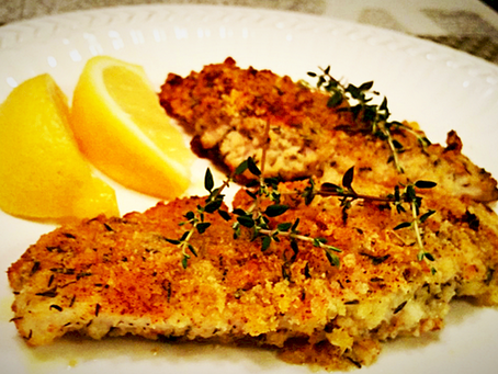 PARMESAN-LEMON CRUSTED TILAPIA
