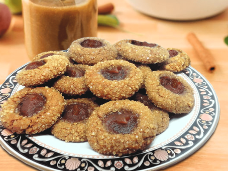 GINGERBREAD THUMBPRINT COOKIES WITH APPLE BUTTER