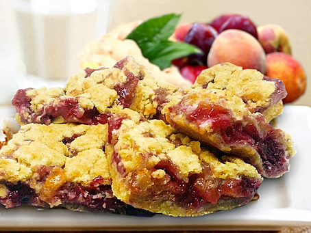 Gingered Peach-Plum Bars